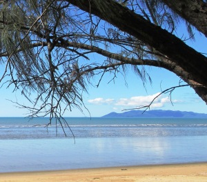 Magnetic Island as viewed from Saunders Beach.