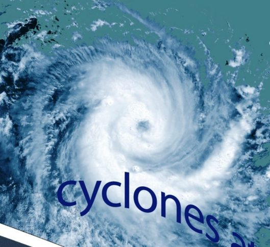 Image 3. Tropical cyclone image of Larry that crossed the Queensland coast in 2006. Courtesy Australian Bureau of Meteorology