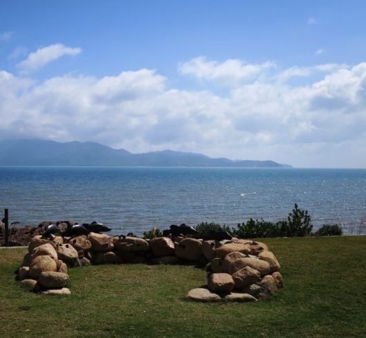 Image 7. Fish trap with Magnetic Island in the background.