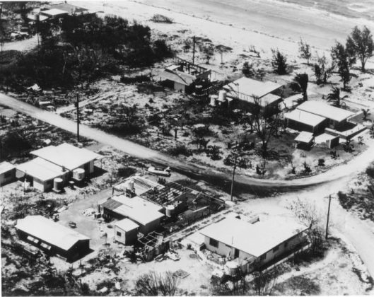 Image 9. After Cyclone Althea, the intersection of, from left to right: Reef Street, Esplanade and Cay Street (lower right).