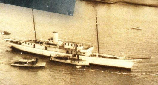 Image 1. The Melisande was once owned by the King and Queen of Belgium. She had two engines each capable of 15 knots and allegedly sunk in Hong Kong Harbour in typhoon.